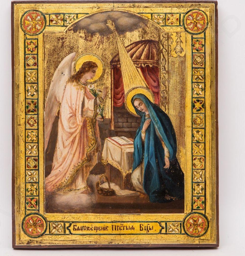 Bidspirit auction | Икона «Благовещение Пресвятой Богородицы»